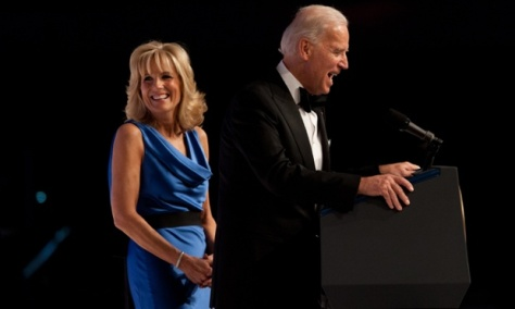 US Vice President Joe Biden and his wife Jill attend the Commander-in-Chief's Ball to honor US service members and their families.