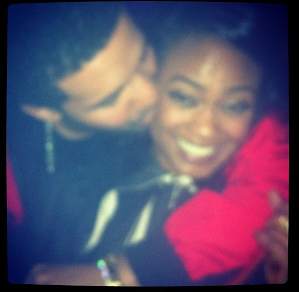 Drake Showers Tatyana Ali For Birthday With Ace of Spades, Kisses & Roses