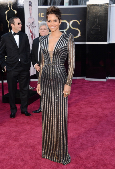Halle Berry wowed some in a wowed in a glittery Marchesa gown.