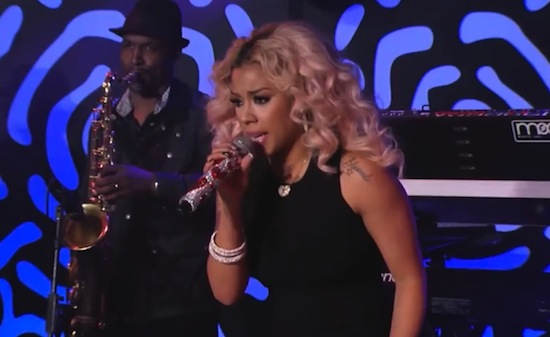 Keyshia Cole performs Trust and Believe