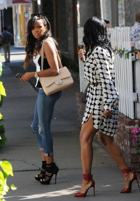 1Letoya-Lucketts-Ivy-Beverly-Hills-Torn-by-Ronny-Kobo-Black-and-White-Contrast-Peplum-Top