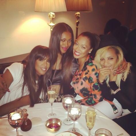 Lala-Anthonys-Instagram-Girls-Night-Dinner-Kenzo-Orange-Animal-Print-Cotton-Blend-Twill-Jacket-