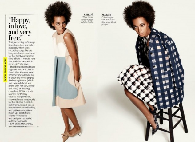 SOLANGE COVERS 'INSTYLE' MAGAZINE