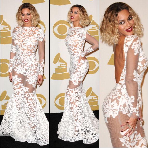 Beyonce's Wet & Wavy Red Carpet Look