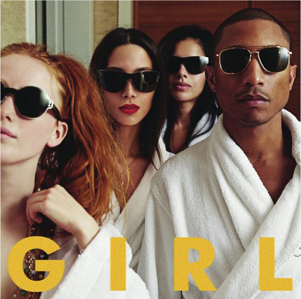 Pharrell scrutinized for not having a dark skin girl on cover of G I R L