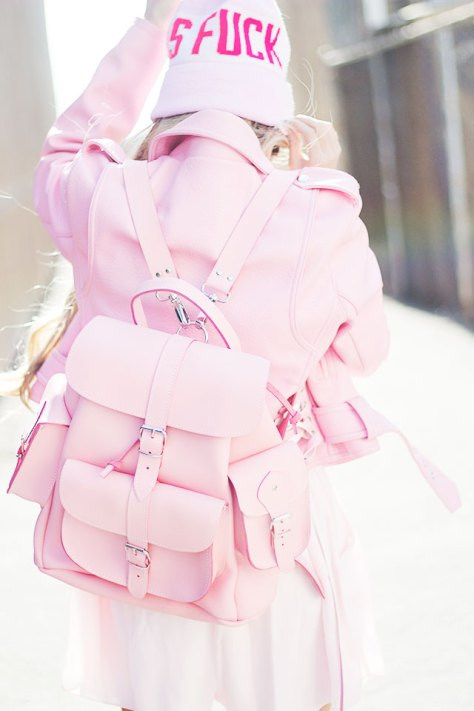 This Pink Lemonade Grafea Back-pack  is to DIE for!